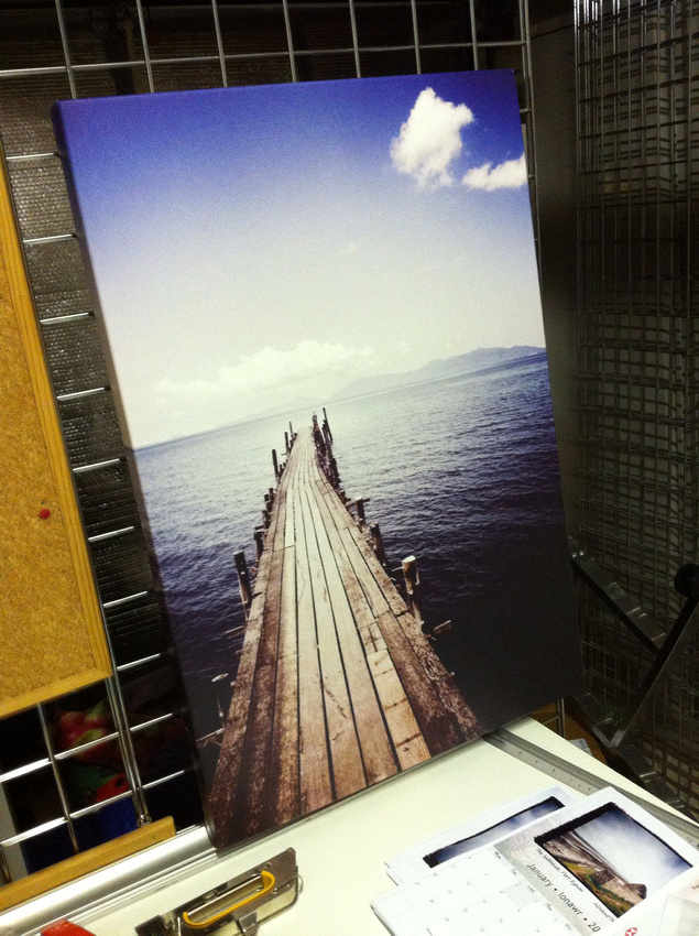 20x30inch Ko Samui jetty Canvas. Shop stock clearance  usually  £110.  SALE £60