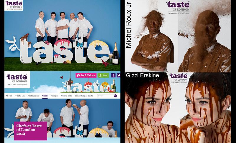 Taste Festival London web banners & chefs